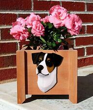 Jack Russell Terrier Planter Flower Pot Smooth Tri