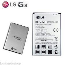 BATTERIA ORIGINALE LG G3 F400 D830 D850 D851 D855 3000mAh BL 53YH NUOVA RICAMBIO