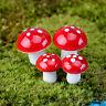 10xMiniatur Puppenstuben Landschaft Bonsai Garten DIY Schaum Pilz Rot! V4J7