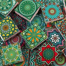 Ceramic Mosaic Tiles - Multi Greens Colors Medallions Moroccan Tile Mosaic Tile