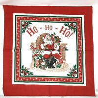 NEW Set Of 12 Vintage Red Christmas Napkins Santa Claus Made In USA Cotton/Poly