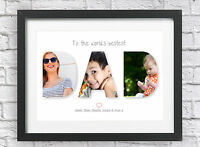 Daddy / Dad Present Personalised Photo Print Custom Birthday Birthday Gift Idea