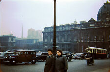 1950s Paris Street Cars Signs Galeries Lafayette Lot of 3 Kodachrome 35mm Slides