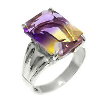 Ametrine Natural Gemstone Handmade 925 Sterling Silver Ring Size 8.5 SR-889