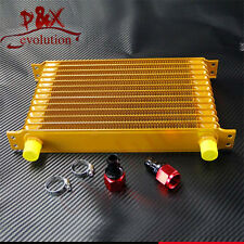 Gold 13 Row Universal Oil Cooler AN10 Engine Oil Cooler with Adapters
