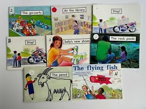 Lot 8 RIGBY PM Starters One and Two Pencil rock pools flying fish Stop!