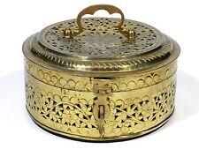 Trinket Box Brass Filigree