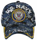 NEW! US NAVY USN BIG ROUND SIDE LINE CAP HAT DIGITAL NAVY CAMO