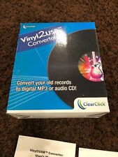 ClearClick Vinyl To USB Converter with LP2 CD Wizard 2.0 Software