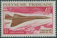 French Polynesia 1969 Sc#C50,SG93 40f Concorde in flight MNH