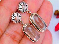 "925 Silver Hot Selling NATURAL CRYSTAL DESIGNER Studs Earrings 1.30"""