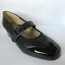 Equity Honey Mary Janes Black Patent Shoes EEE Fitting £32.99