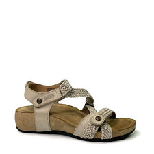 Taos Trulie Strappy Stone Leather Woven Adjustable Sandals Womens US 5-5.5 EU 36