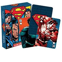 Superman set of 52 playing cards (nm) (dark box version)
