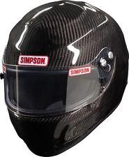 SIMPSON RACING CARBON DEVIL RAY HELMET MED #683002C SA 2015 SFI / FIA HANS READY