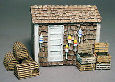 LOBSTER SHACK O On30 Model Railroad Structure Building Resin Unpainted Kit FR525