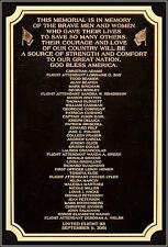 Photo: 9/11 Bronze Plaque: The Names Of The Victims OF United Airlines Flight 93