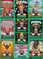 GARBAGE PAIL KIDS FLASHBACK 3 ADAM BOMB MANIA GREEN COMPLETE SET 10/10 CARDS