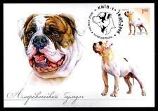 Amerikanischer Bulldogge. Maximumkarte. Ukraine 2008