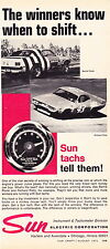 1971 RICHARD PETTY / DAYTONA 500 WINNER  ~  ORIGINAL SUN TACH AD