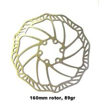 89 GRAMMES 160MM  STAINLESS STEEL DISC BRAKE ROTOR ! HEAT TREATED TOP QUALITY
