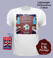 Fan Inspired, Football T Shirt, West Ham, Irons, Union Jack, Casuals, Men's,