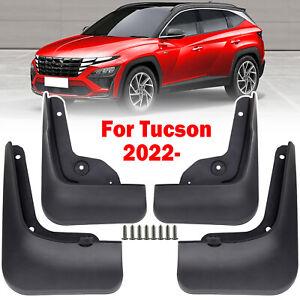 x4 Set Car Splash Guards Mud Flaps Mudguards For Hyundai Tucson NX4 2021 2022