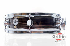 """Piccolo Snare Drum by Griffin - 13"""" x 3.5"""" Zebra Wood Poplar Shell Percussion"""