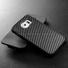 Samsung Galaxy S6 Holster Combo Belt Clip Cell Phone Case With Kick Stand Cover