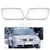 2x Plastic Headlight Headlamp Cover Replacement AP For VW MK4 Jetta Bora 98-04