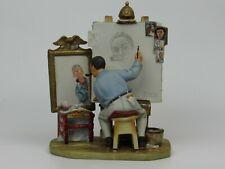 1978 Norman Rockwell's Triple Self Portrait Figurine Gorham Mint Condition