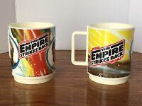 Vintage Star Wars Empire Strikes Back 10 oz Mugs Deka Plastics 1980 Luke Vader