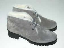 PRADA DAMEN SCHUHE ANKLE BOOTS SHEEPSKIN GRAY EU:39,5 NEU/NEW SPECIAL PRICE