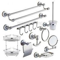 Modern Chrome Wall Mounted Bathroom Hardware Bath Accessory Set Towel Bar Pxz012