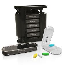 Nestor&Gamble Tablettenbox für 7 Tage - Hochwertige Pillendose mit 4 Fächern - M