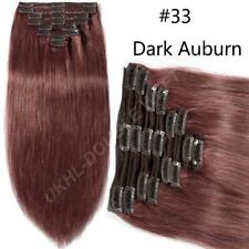 Luxury Clip in HOT Remy Human Hair Extension Thick Double Weft Full Head US U055