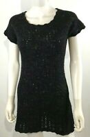 Anthropologie Sparrow Sweater Dress Charcoal Gray Wool Blend SZ S