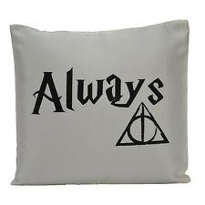 Harry Potter Deathly Hallow After Always Cushion Cover Hogwart Home Decor Faux S