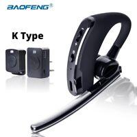 BAOFENG WALKIE TALKIE HEADSET PTT WIRELESS BLUETOOTH EARPHONE FOR TWO WAY RADIO