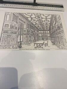 Antique Architect Plate Saloon Wemyss Castle Fife Kinnear Building News 1876