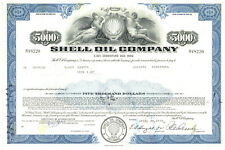 Shell Oil Company. Stock-size Bond Certificate
