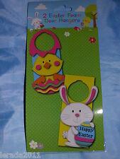 2 Pascua hace su propia puerta de espuma de Pascua Perchas Chick & Rabbit cacería de huevos Pack 2