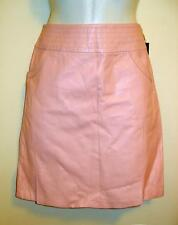 VS2 by Vacco Leather Pink A-line Mini Skirt Lined with Wide Waistband Size 8