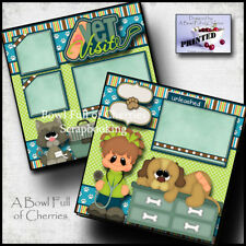 VET VISIT ~ pet dog cat 2 premade scrapbooking pages layout paper piecing Cherry