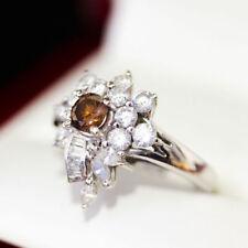 Diamond Cluster White Gold Natural Fine Rings