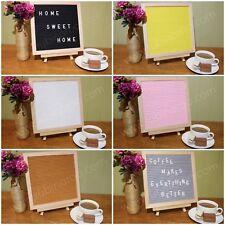 Hexagon, Square Felt Letter Board & Easel Set Oak Frame. Selection of Colours.