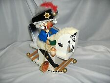 Vintage Steinbach Frederick The Great Rocking Horse Music Box Incense Smoker Box