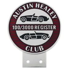 AUSTIN-HEALEY proprietari 100/3000 registro BADGE 78x97mm CHROME RED SMALTO Riempimento