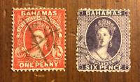 British Bahamas Stamp #14 #16 Used H CV $110