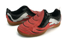 Puma Men's Red And Black Lace Up Athletic Indoor Soccer Shoes US Size 6